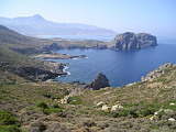 On a road from Falassarna to Balos Beach