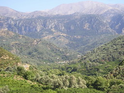 One from nice views at Lefka Ori mountains