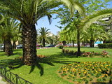 Park in Dicastilio Square in Chania