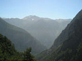 View near the entrance to Samaria Gorge