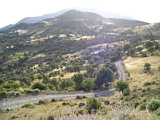 Mountainous terain in south Crete