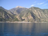 View from Boat near Agia Roumeli going to  Chora Sfakion