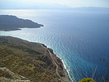 Magnificent view from a car lay-by on a road from Sitia to Agios Nikolaos