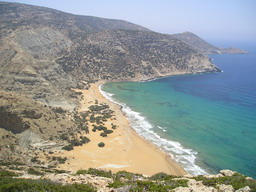 One of beautiful and desert beach at Gavdos