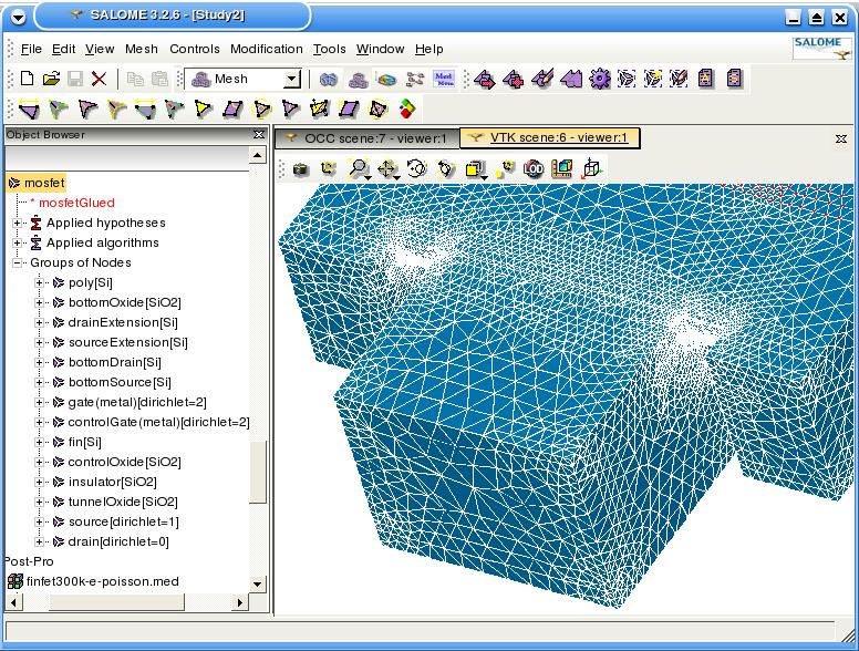 A Software Platform for Nanoscale Device Simulation and